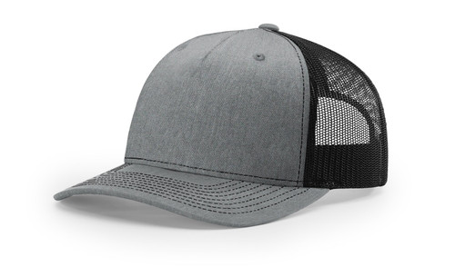 Heather Grey/ Black - 112FP Richardson Trucker Cap | T-shirt.ca