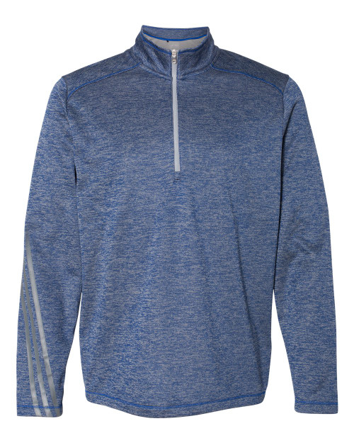 A284 Adidas Brushed Terry Heathered Quarter-Zip Pullover | T-shirt.ca