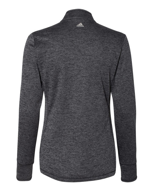 A285 Adidas Women's Brushed Terry Heather Quater-Zip Pullover   T-shirt.ca