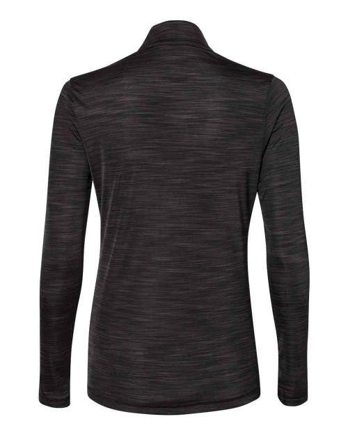A476 Adidas Women's Lightweight Mélange Quarter-Zip Pullover Shirt | T-shirt.ca