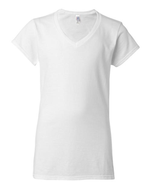 64V00L Gildan Junior Fit V-neck T-shirt | T-shirt.ca