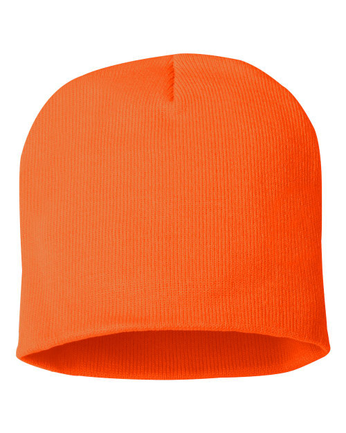 "Blaze Orange - SP08 Sportsman Acrylic Knit 8"" Toque 