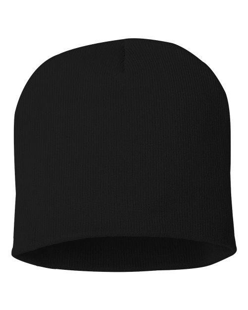 "Black - SP08 Sportsman Acrylic Knit 8"" Toque 