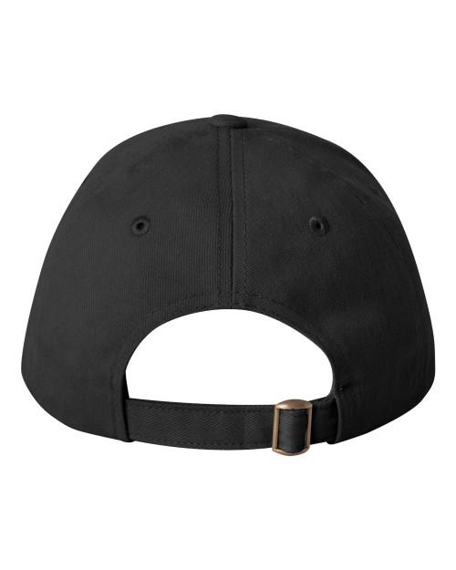 Black, Back - SP9910 Sportsman Brushed Structured Hat | T-shirt.ca