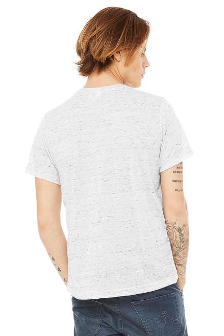 White Marble - B3650 Bella+Canvas Marble Poly Cotton Tee | T-shirt.ca