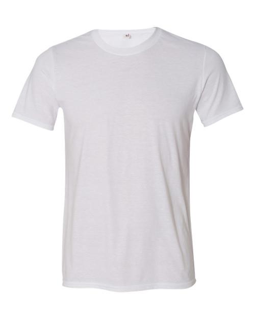 White - 6750 Anvil Triblend Crew Neck Tee | T-shirt.ca