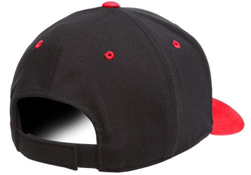 Black/Red - Back, 110C FlexFit Cool & Dry Pro-Formance Cap | T-shirt.ca