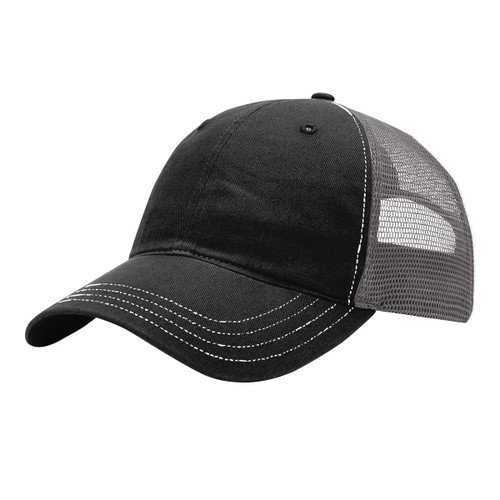 Black/Charcoal - RC111 Richardson Washed Trucker Hat | T-shirt.ca