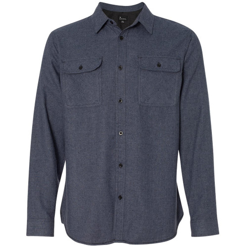 Denim - BR8200 Burnside Men's Solid Flannel | T-shirt.ca