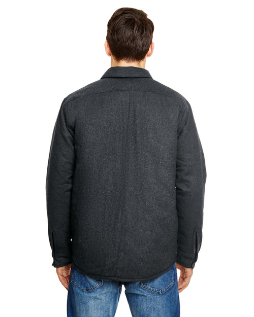 Charcoal - 8610 Burnside Men's Quilted Flannel Jacket | T-shirt.ca