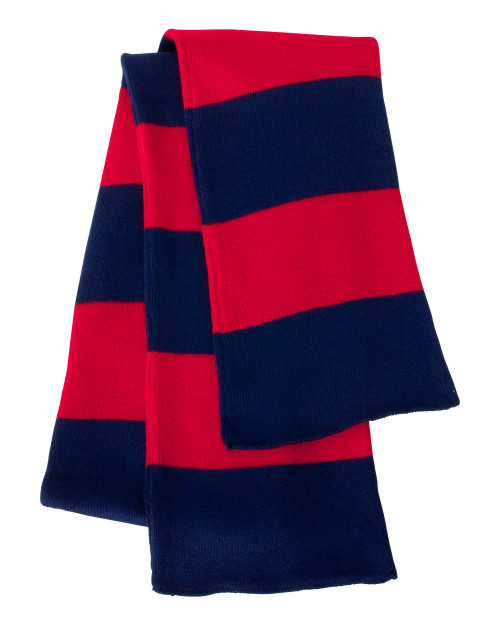 Navy/Red - SP02 Sportsman Striped Rugby Scarf | T-shirt.ca