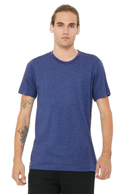 9a82b4659c450 True Royal Triblend - B3413 Bella+Canvas Triblend T-shirt