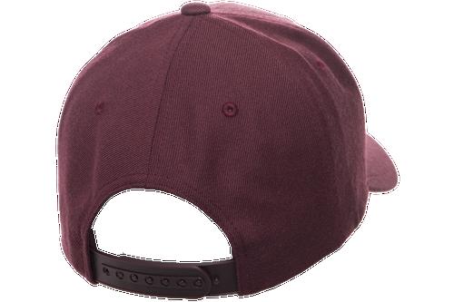 Maroon, Back - YU6789M Yupoong premium Curved Snapback Cap | T-shirt.ca