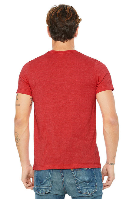 Heather Red - Back, B3001CVC Bella + Canvas Jersey Short Sleeve Tee | T-shirt.ca