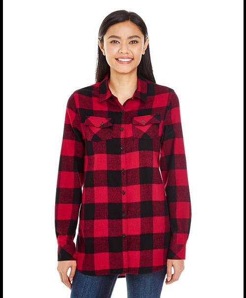 5210 Burnside Ladies Woven Plaid Flannel | T-shirt.ca