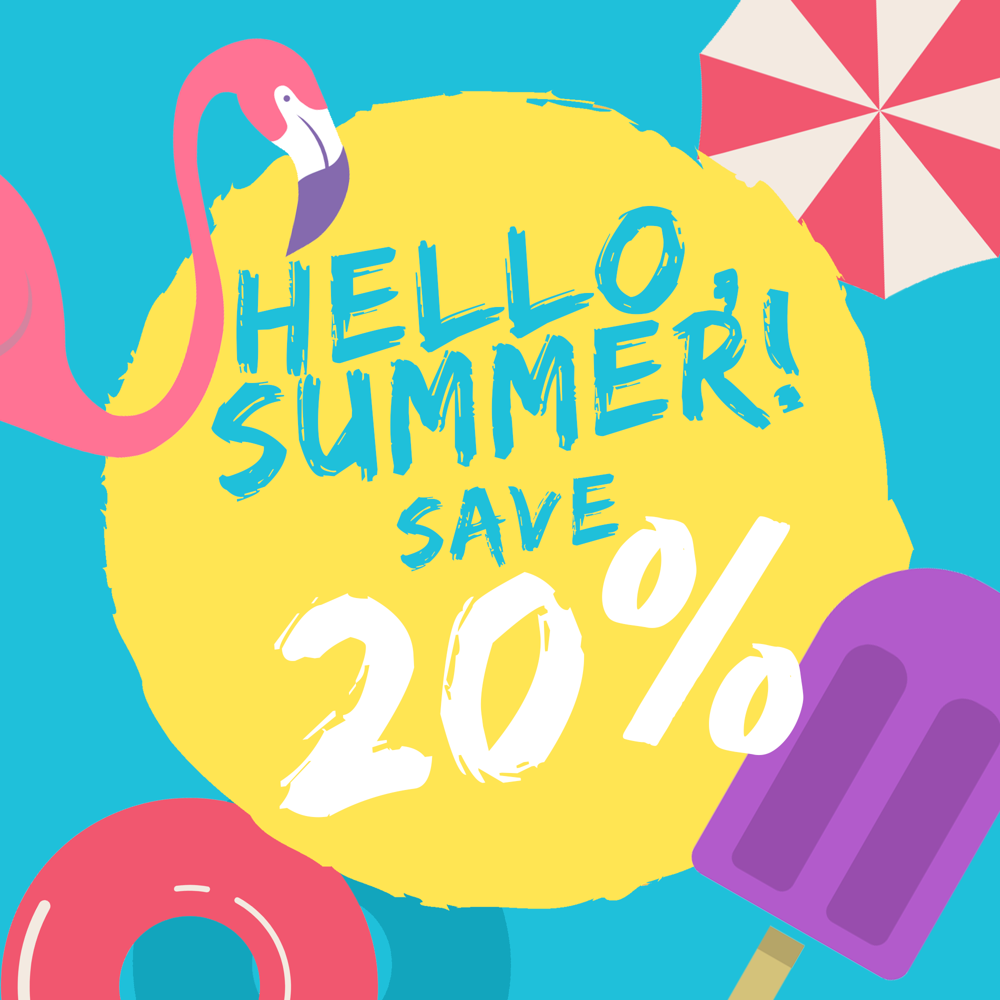 Countdown With Us and Save 20%!