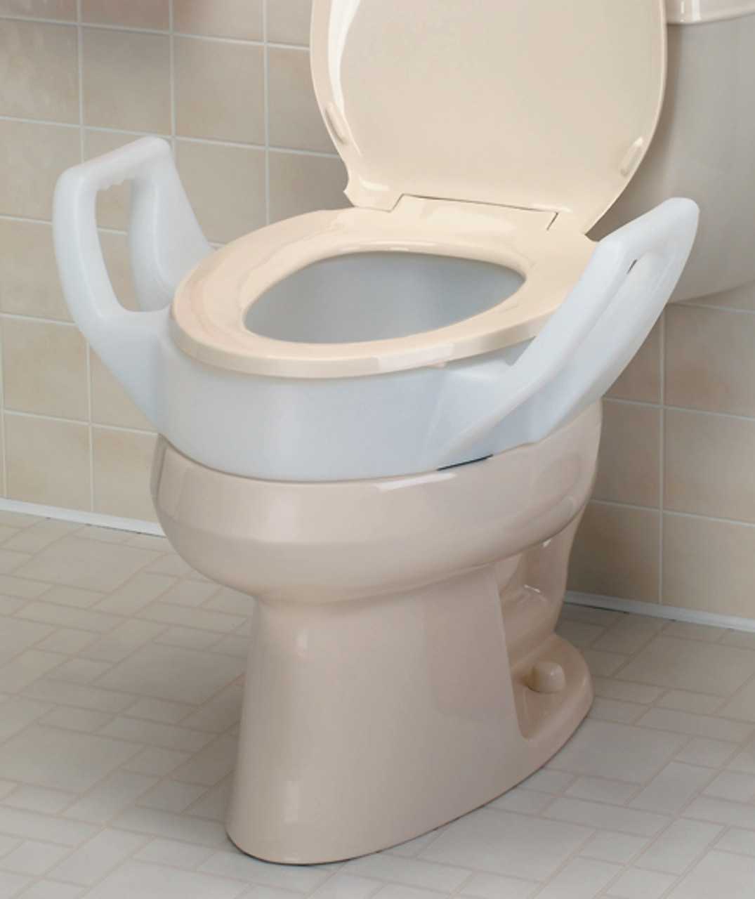 Excellent Nc28966 1 North Coast Medical Toilet Seat Riser With Arms Elongated Onthecornerstone Fun Painted Chair Ideas Images Onthecornerstoneorg