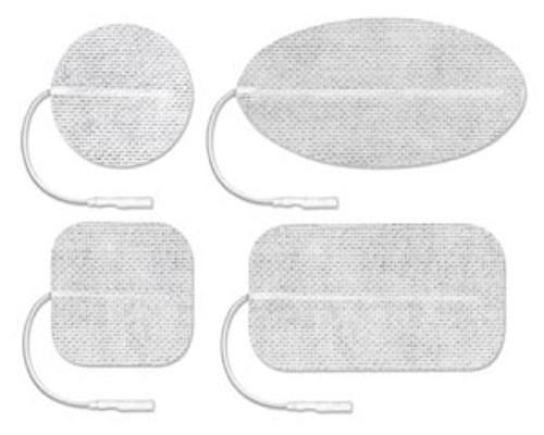 "CF5090 Axelgaard ValuTrode Cloth Electrode, White Fabric Top, 2"" x 3 1/2"" Rectangle, 4/pk, 10 pk/bg, 1 bg/cs (090159) Sold as cs"