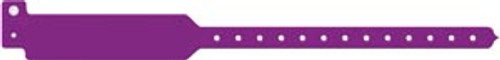 3207 Medical ID Solutions Wristband, Adult, Write-On Tri-Laminate, Purple, 500/bx Sold as bx