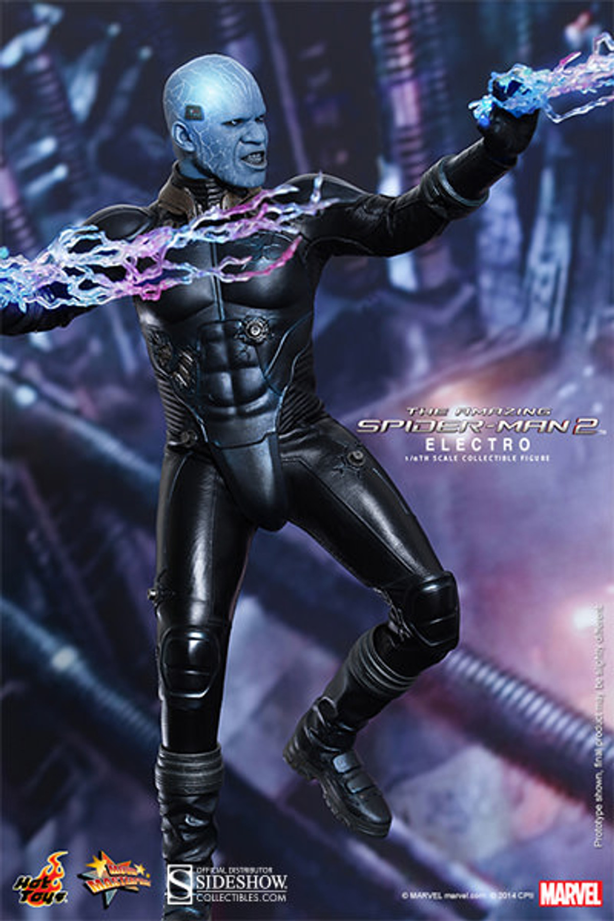 """12/"""" Item 902207 Electro Figure from Spiderman 2 Hot Toys Sideshow   IN STOCK"""