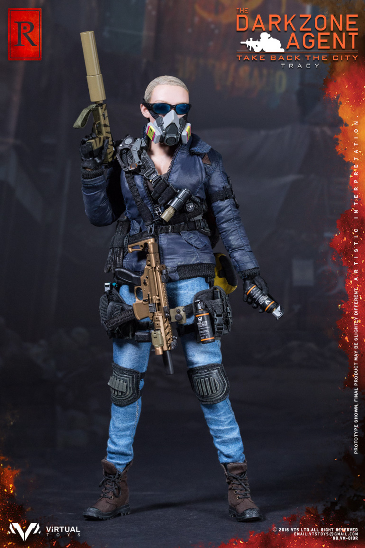 Virtual Toys The Dark Zone Agent Tracy R Ver Flash Light loose 1//6th scale