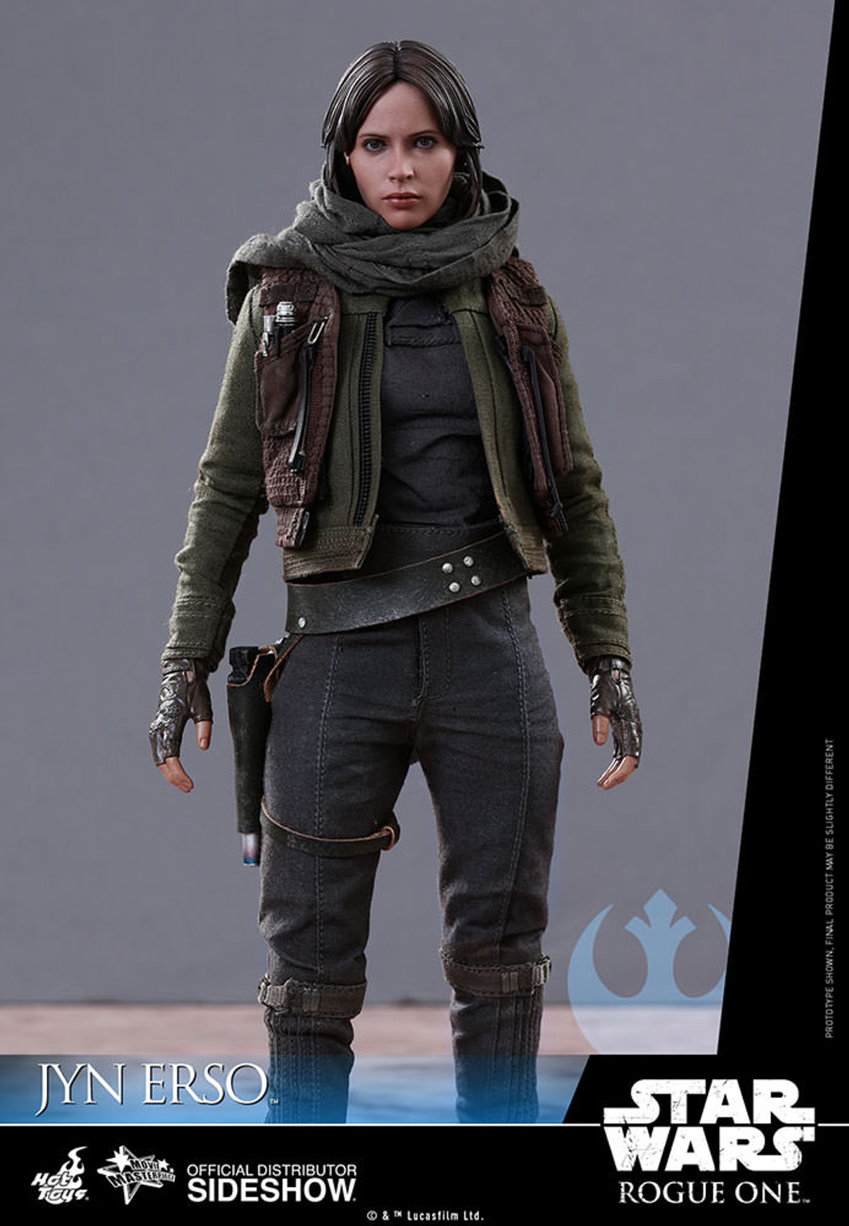 Hot Toys Star Wars Rogue One Jyn Erso Figure Stand loose 1//6th scale