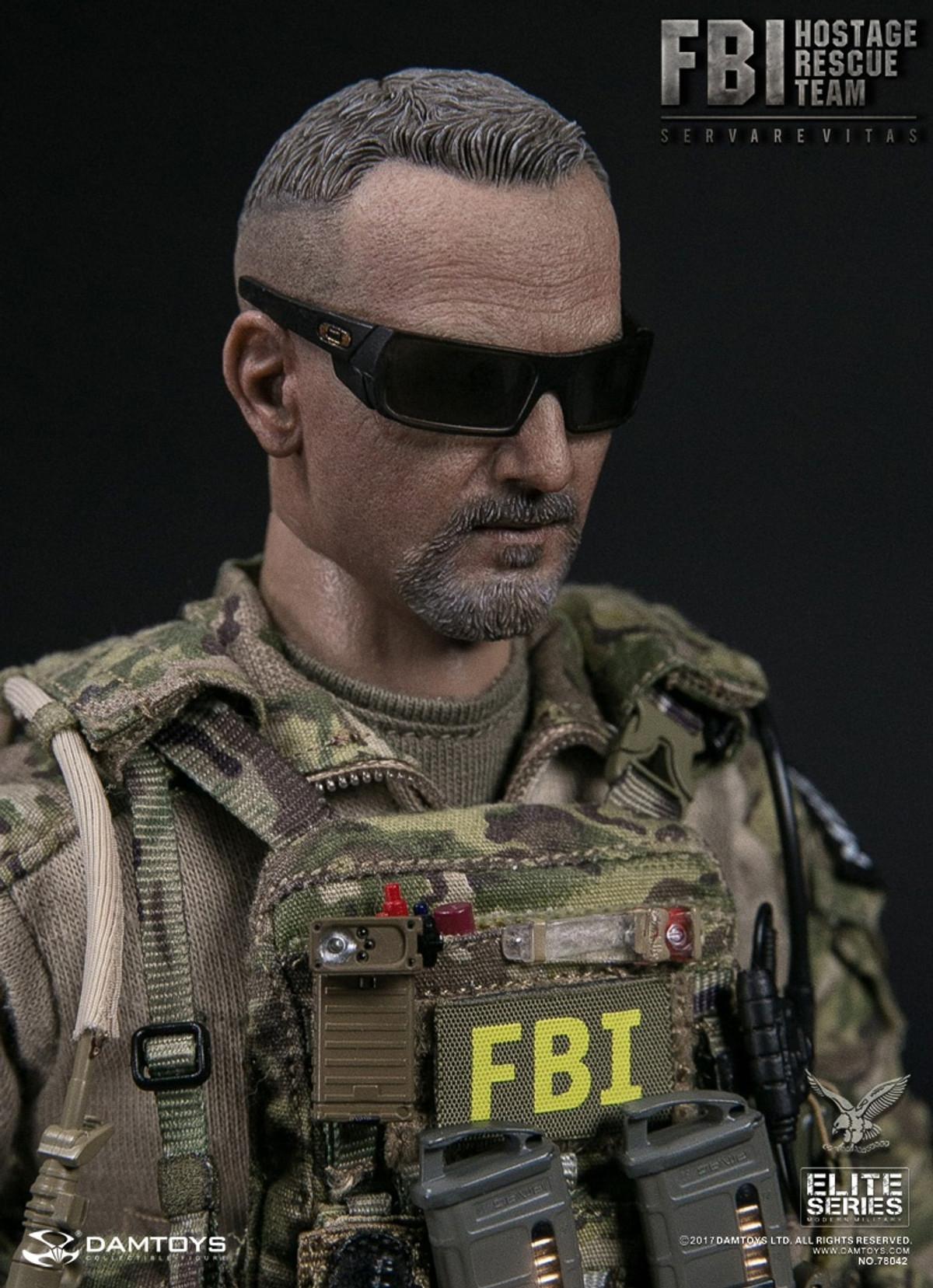 1//6 Scale Toy Hostage Rescue Team Multicam Ballistic Helmet w//GPNVG-18