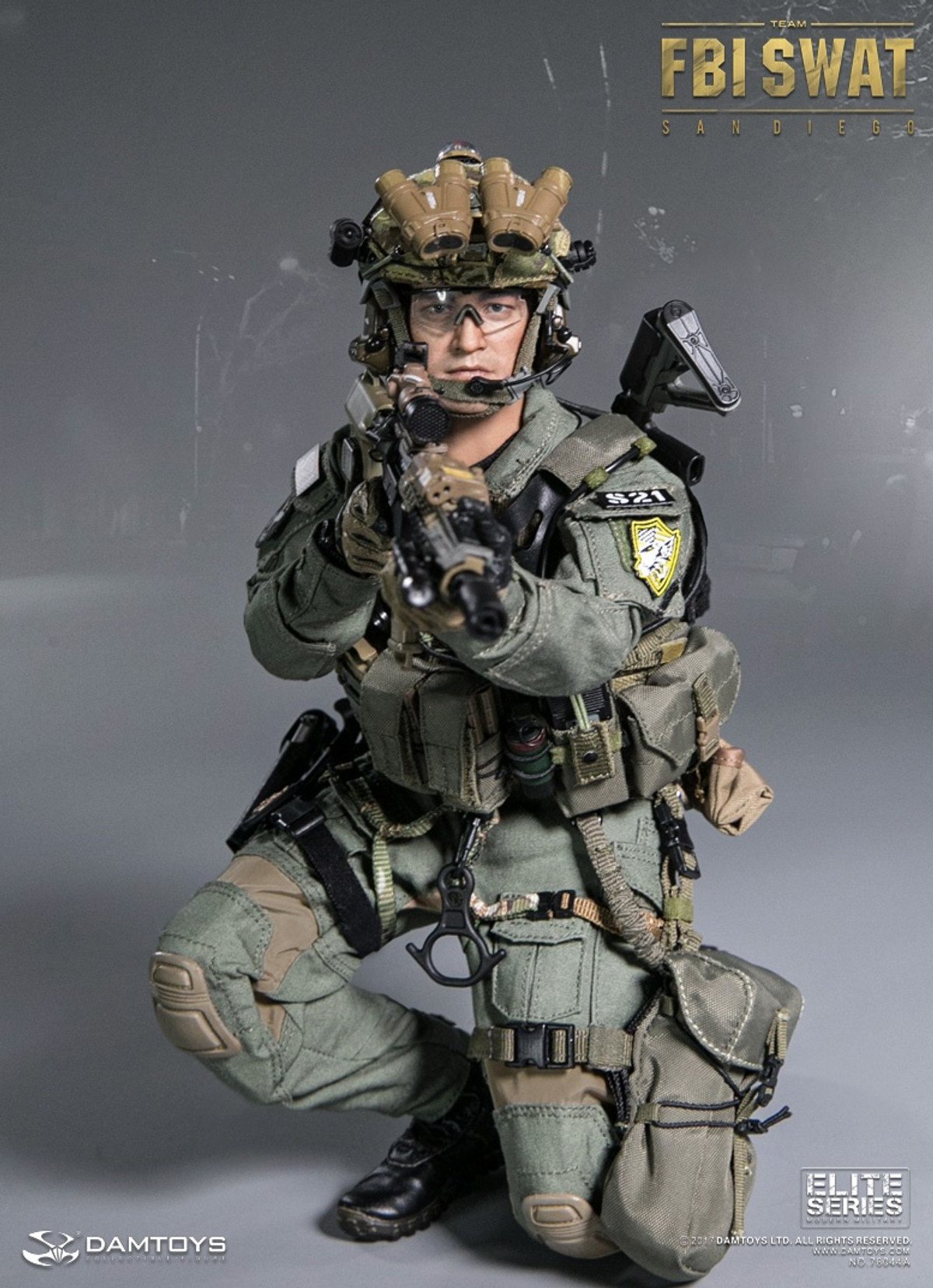 1//6 Scale-Damtoys Action Figures San Diego Special Weapons and Tactics-Watch