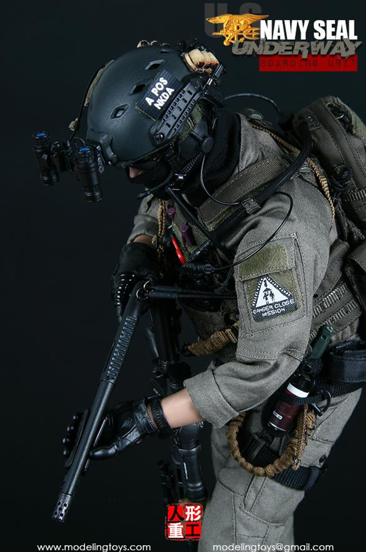 Modeling Action Figures Navy SEAL Boarding Unit MK24 Pistol Set 1//6 Scale