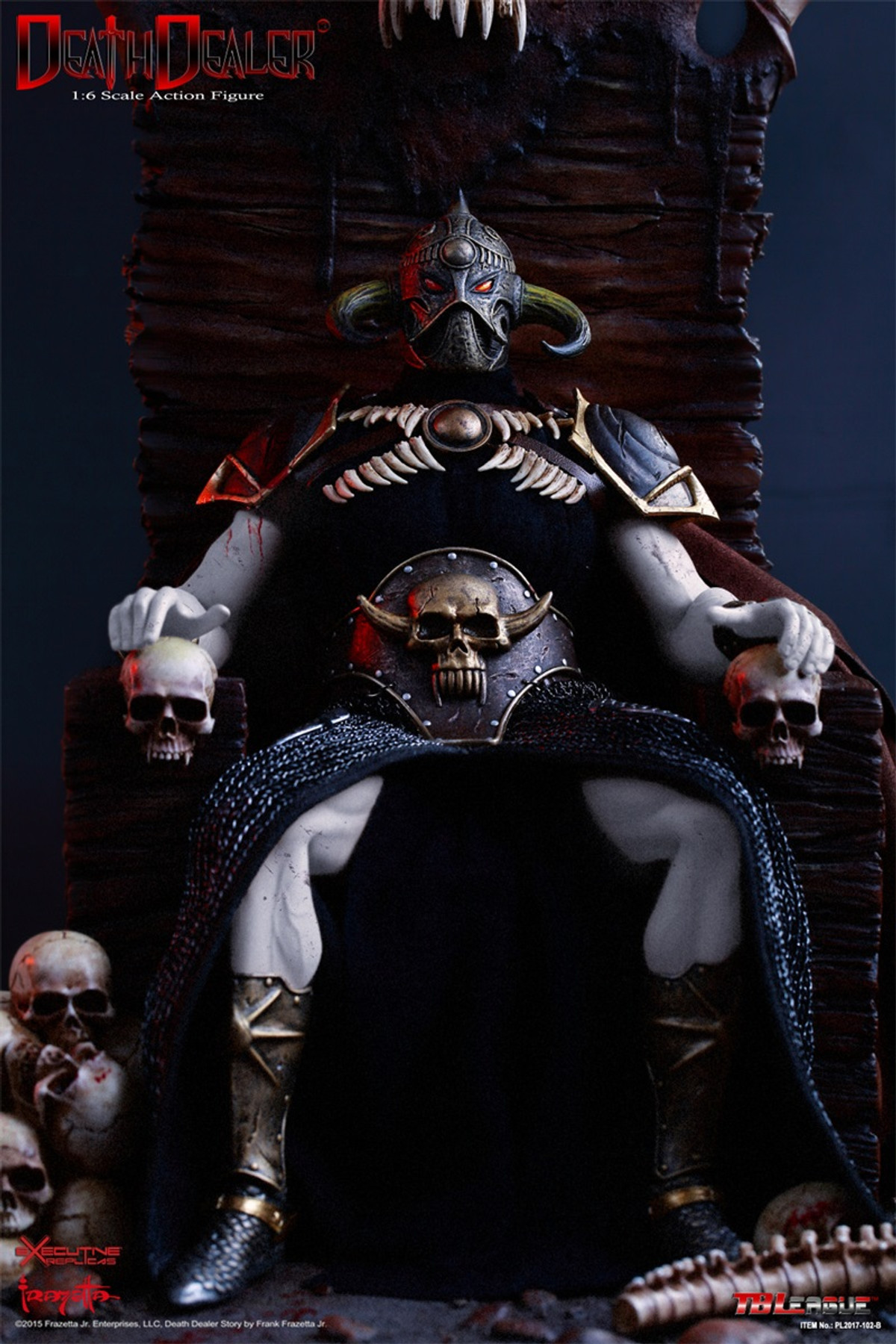 1//6 Scale Hell on Earth Frazetta Death Dealer Version 2 Figure Stand /& Throne