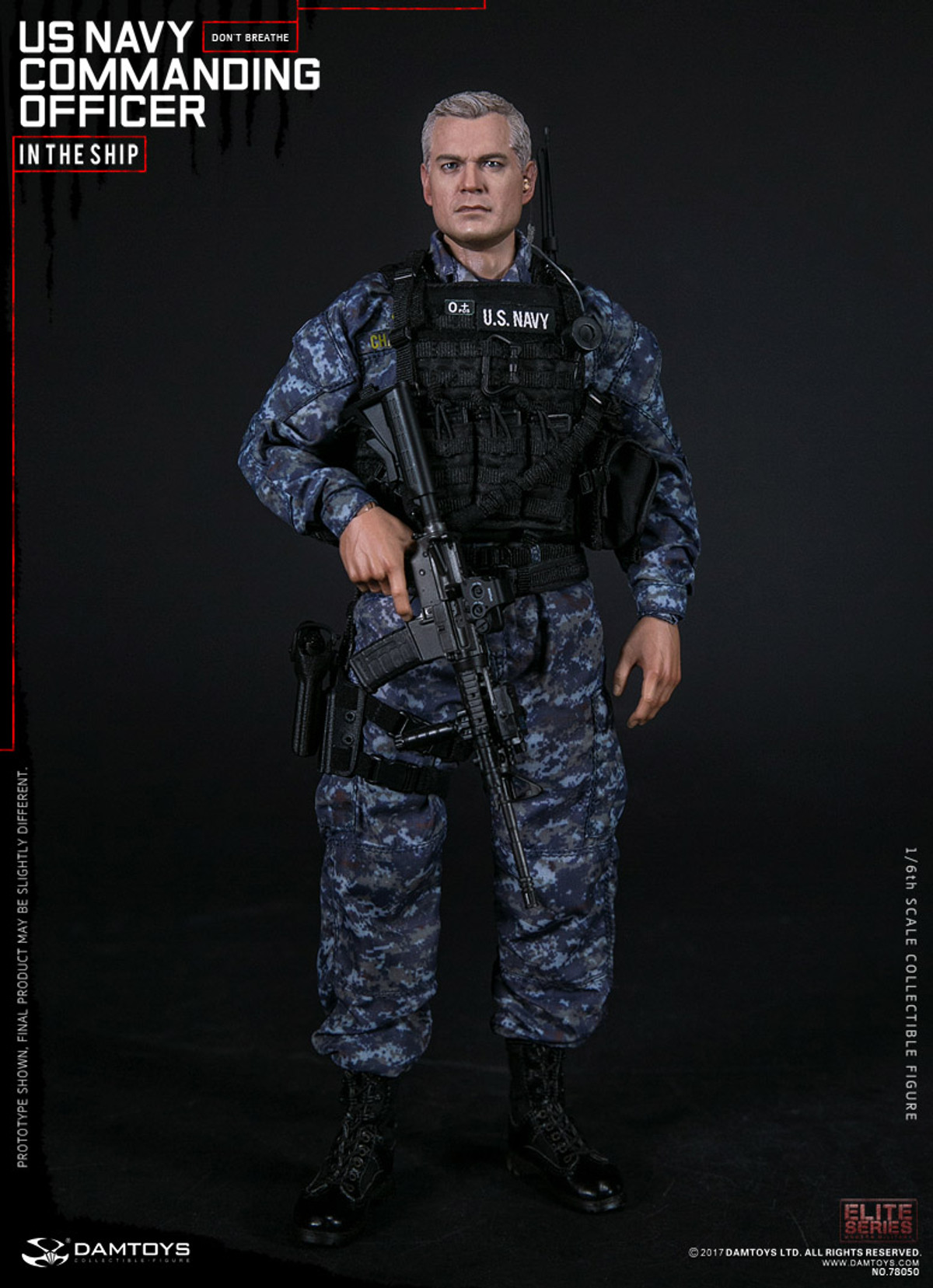 Working Uniform Set Navy Commanding Officer 1//6 Scale Damtoys Action Figure