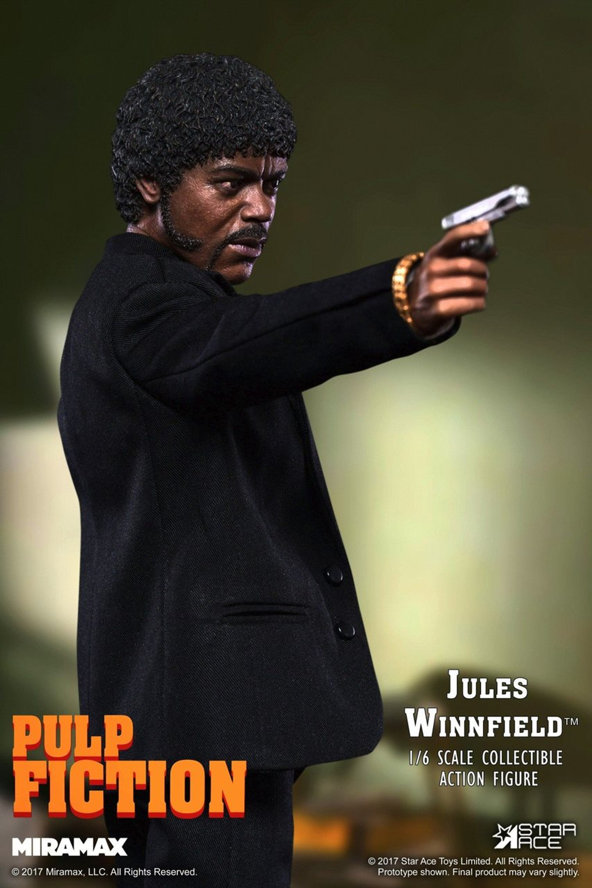 STAR ACE Jules Winnfield Pulp Fiction Black Tie loose 1//6th scale