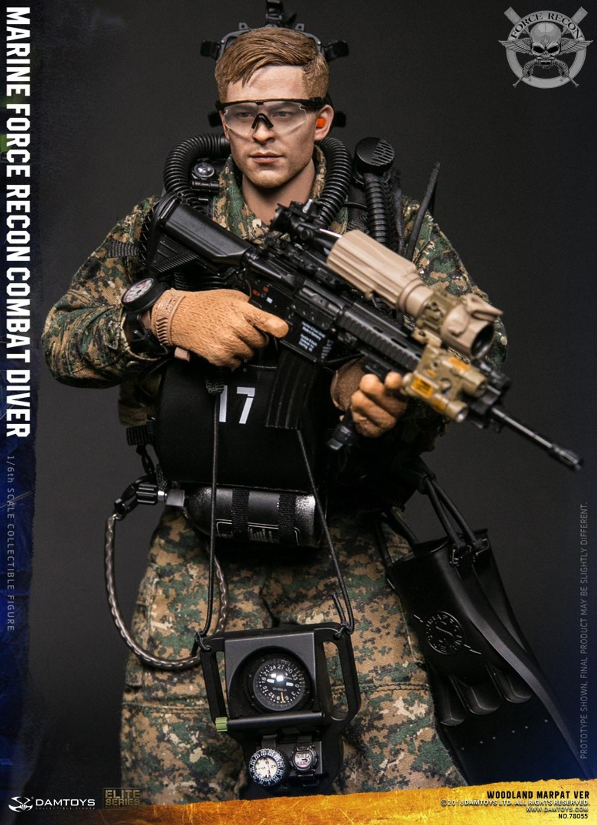 "Damtoys 78055 1//6 Scale USMC Recon Combat Driver DIVING FIN Model for 12/"" Figure"
