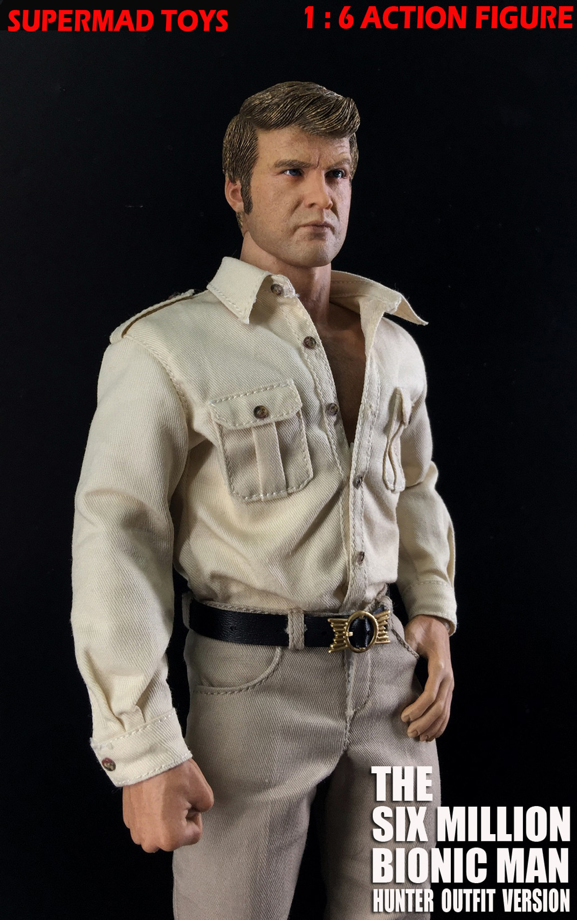 SUPERMAD TOYS 1//6 The Six Million Bionic Man Hunter Outfit Version Action Figure