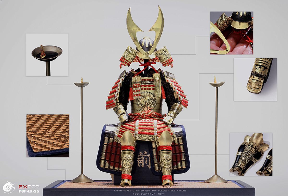 POP Toys SAMURAI D/'ORO Grand Armour EX025 da Polso in Metallo GUARDIE Loose SCALA 1//6th