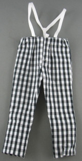 Hot Toys - Pants - Checkered /w Suspenders - Black & White