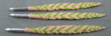 Hot Toys - Feathers - 3 Metal Tipped - Green & Salmon