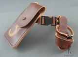 """COO Model - Belt - Brown Leather - """"3"""" Pouch - Holster"""