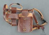 COO Model - Shoulder Holster - Brown Leather - Dual Blade Sheath