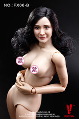 Very Cool - Asian Actress Black Curly Hair Headsculpt + VC 3.0 Female Body Set