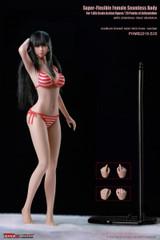 TBLeague - Girl Super-Flexible Seamless Body with Head Sculpt - S35 Suntan Medium