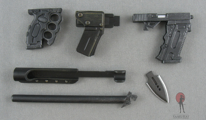 Hot Toys - Battle-Kata - Glock 21, Bayonet, Dagger, Holsters