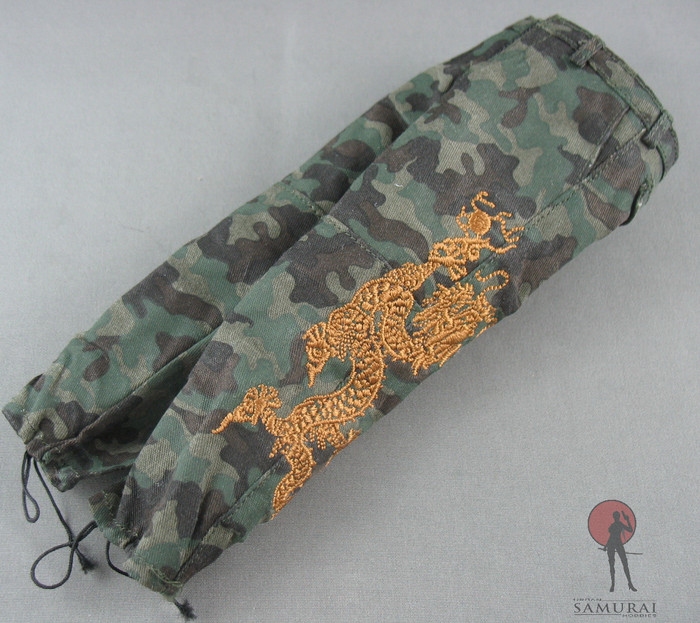 Hot Toys - Pants - Green Camo - /w Golden Dragon Embroidery