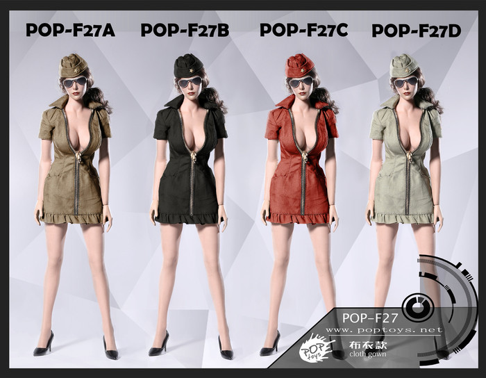 Pop Toys - Sexy War Women Suit Cloth Version