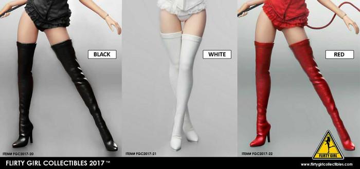 Flirty Girl - High Boots - Red