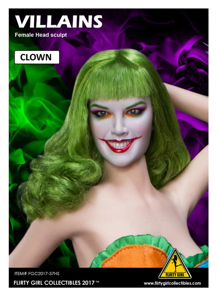 Flirty Girl - Villain - Clown Headsculpt