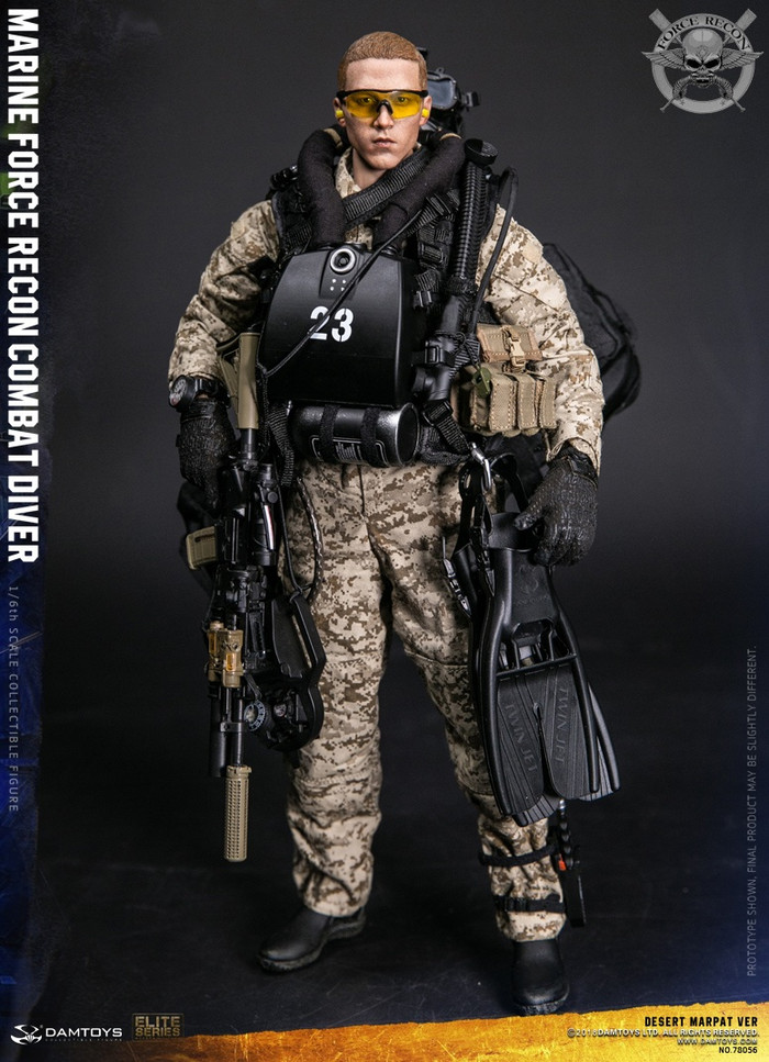 Dam Toys - Marine Force Recon Combat Diver - Desert Marpat Version