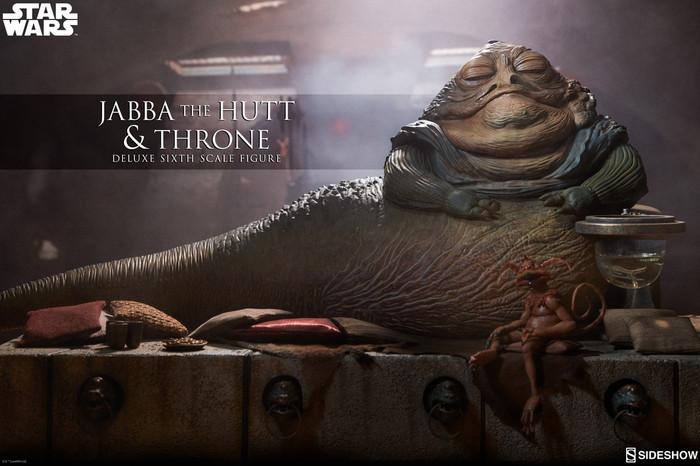 Sideshow - Star Wars Episode VI: Return of the Jedi - Jabba the Hutt & Throne Deluxe