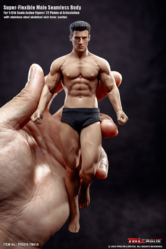 TBLeague - 1/12 Super Flexible Male Seamless Body - TM01A