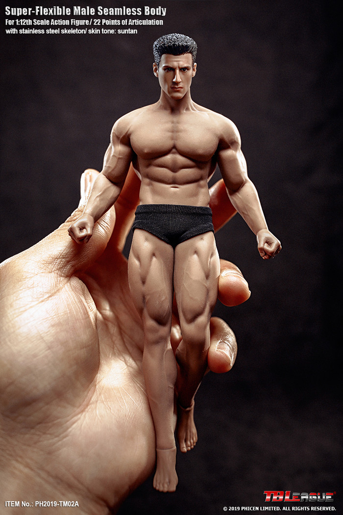 TBLeague - 1/12 Super Flexible Male Seamless Body - TM02A
